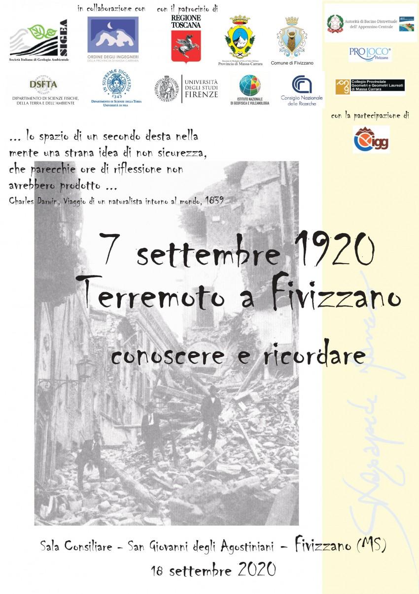 7 settembre 1920 terremoto a Fivizzano