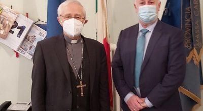 Presidente Lorenzetti e vescovo emerito Ambrosio