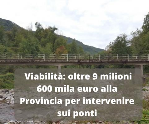 Finanziamento ponti strade provinciali